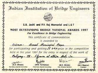Indian Institution of Bridge Engineers Award - Year 1997