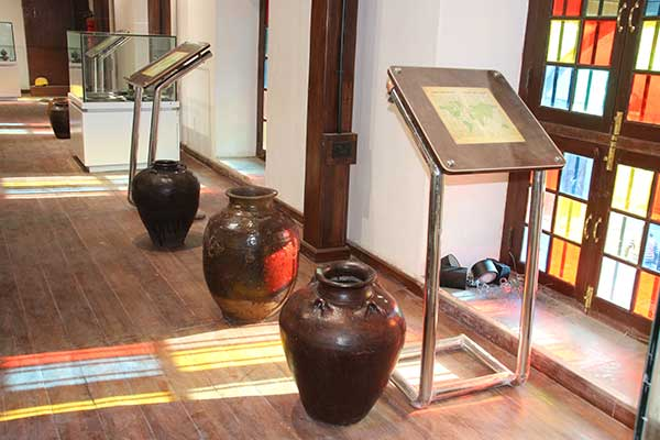 Displayed trade jars in Trade gallery