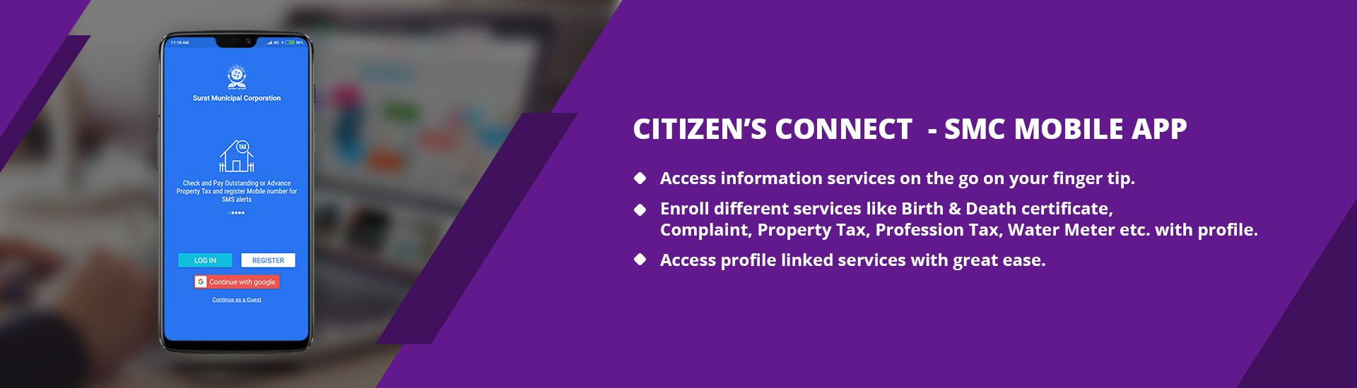 Citizen's Connect- Profile based SMC Mobile App